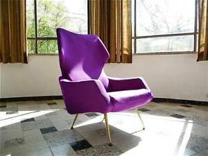 1960s german wingback chair mid century sessel r b. Black Bedroom Furniture Sets. Home Design Ideas