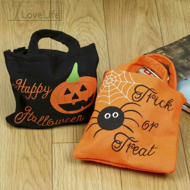 """HALLOWEEN PUMPKIN SWEET GOODY PARTY LOOT FAVOUR BAGS PACK OF 100 7/""""X9/"""""""