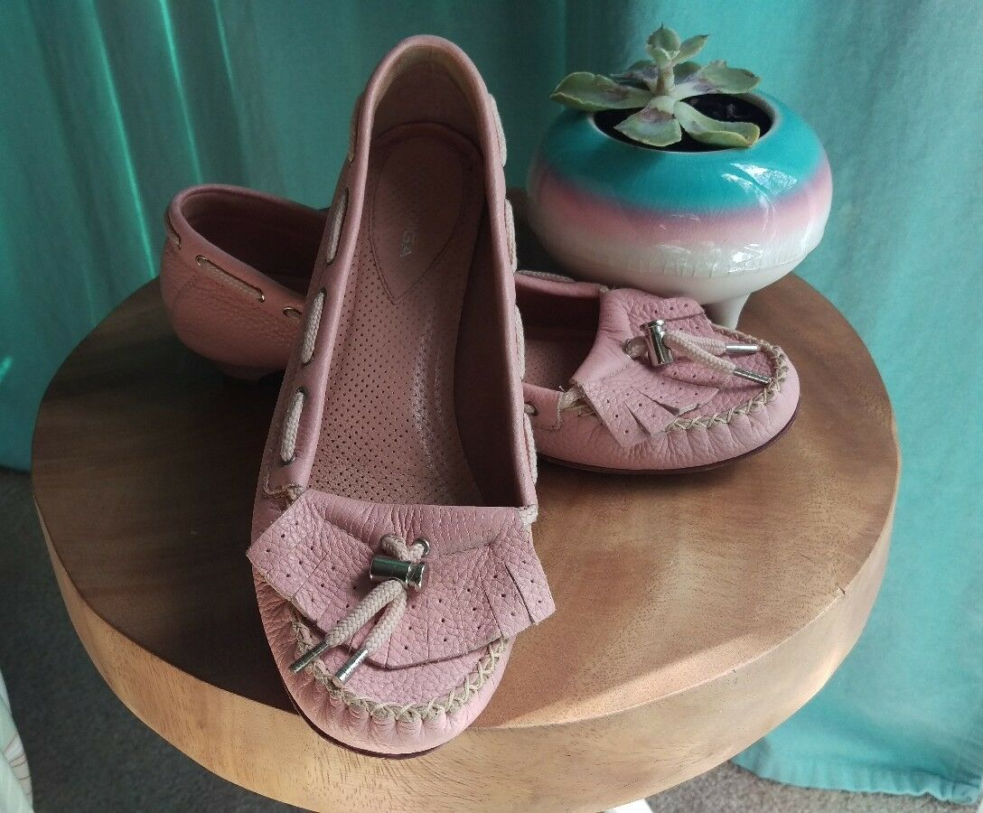 Via Spiga Pink Loafer / Moccasin , Leather, size 8.5
