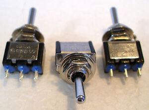 2K280 3 x Mini Toggle SPDT (on) Off (on) Biased Peco Point Motor ...