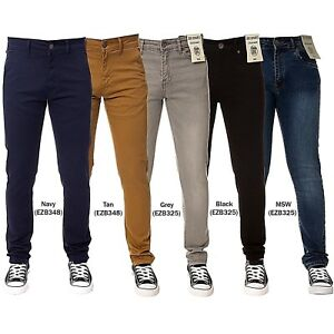 931eaef7 New Enzo Designer Boys Jeans Kids Skinny Stretch Slim Fit Chinos ...