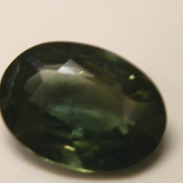 Natural earth-mined green sapphire oval gemstone...1.22 carat gem