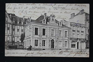 Tarjeta-Postal-Antigua-CPA-Animada-La-Bourboule-Hotel-De-Correos
