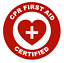 CPR-First-Aid-Certified-Emblem-Vinyl-Decal-Window-Sticker-Car thumbnail 1