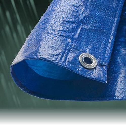 7.0M x 9.0M ECONOMY blueE WATERPROOF TARPAULIN SHEET TARP COVER WITH EYELETS