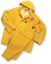 3 PIECE HEAVY DUTY YELLOW RAINSUIT RAIN SUIT 35MM SIZE 4XL NEW IN BAG