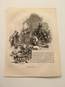 K76-The-Battle-of-Cressy-Crecy-Hundred-Years-039-War-1845-Engraving