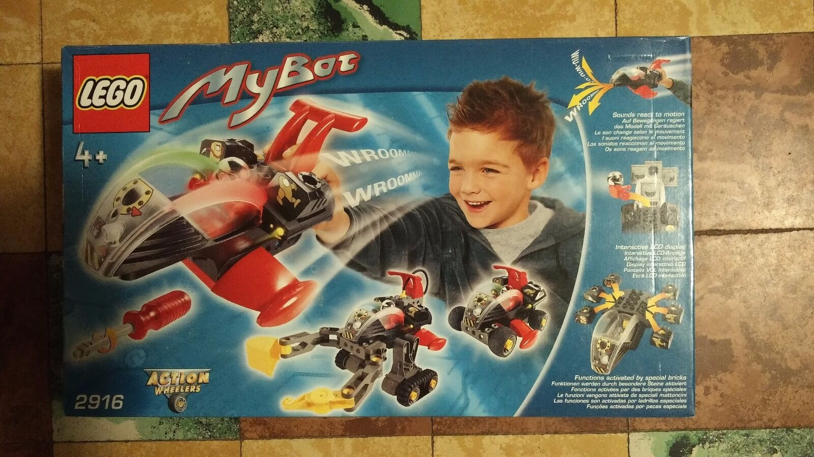 Lego MyBot 2916. Very rare - from 2000 - MISB - Action Wheelers