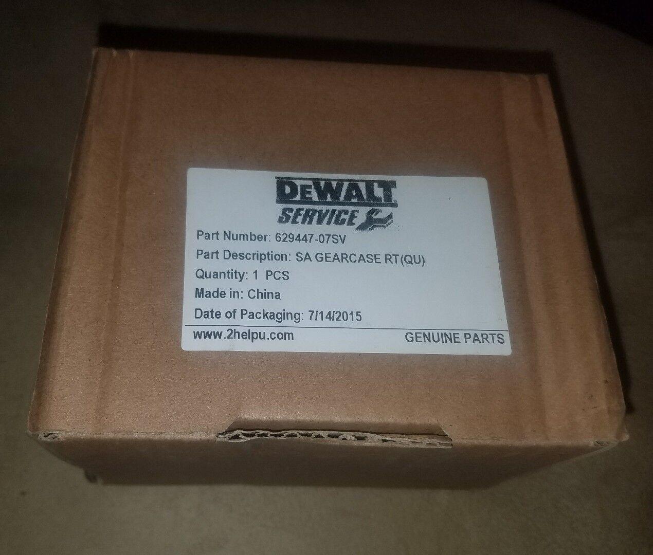 DEWALT 629447-07SV GEARCASE FOR SMALL ANGLE GRINDER