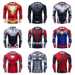 Superhero-Compression-T-shirts-Long-Sleeve-Quick-Dry-Fitness-Sportwear-New-Goods