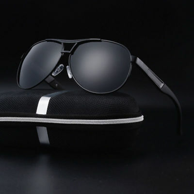 Polarized Sunglasses Men's Retro Pilot Metal Outdoor Drving Eyewear Glasses