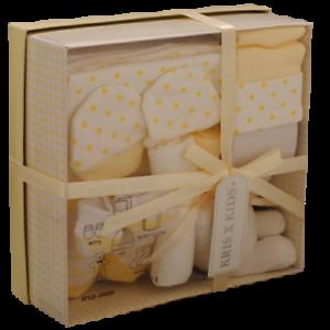 fb1921ca1772 7 Piece 0/3 Month New Baby Boy Girl Unisex Lemon White Gift Box Set ...