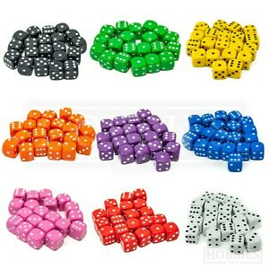 10mm-Dice-Six-Sided-RPG-Wargame-D6-Board-Game-Set-White-Black-Blue-Red-20-50-100