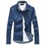 Men-039-s-New-Casual-Stylish-Jean-Denim-Slim-Fit-Long-Sleeve-Shirt-3-Colors-010 thumbnail 2