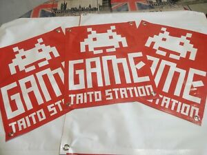 3-Small-GAME-TAITO-STATION-Arcade-BANNER-16x20in