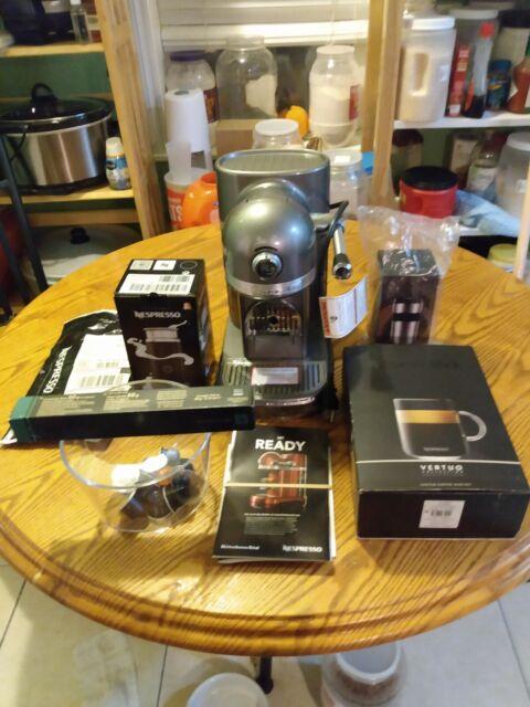 KitchenAid KES0504SR Nespresso Espresso Machine with Milk Frother - Silver More