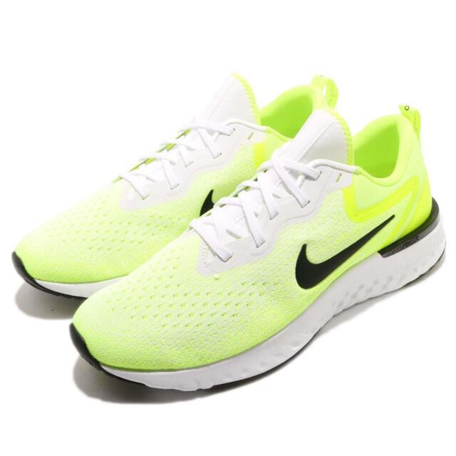 6e54acdac95b Nike Odyssey React White Black Volt Men Running Training Shoe Sneaker  AO9819-103