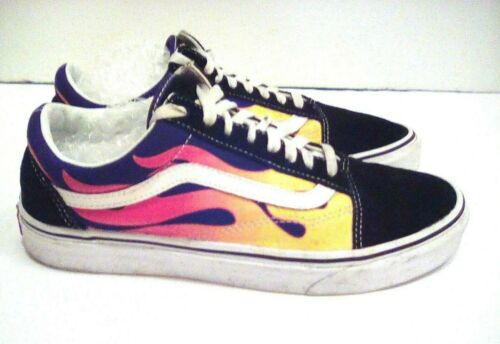Vans Old Skool Flame Print Sneakers Skate Shoes Sn