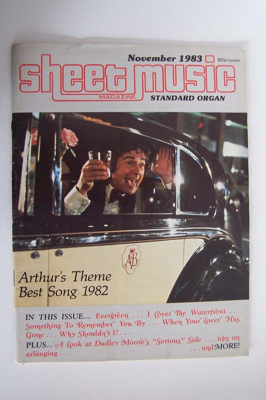 Sheet Music Magazine November 1983 Volume 7 No 8 Arthur