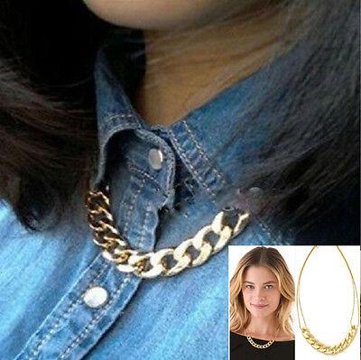 Women Fashion Crystal Bid Pendant Chain Choker Chunky Statement Necklace Jewelry
