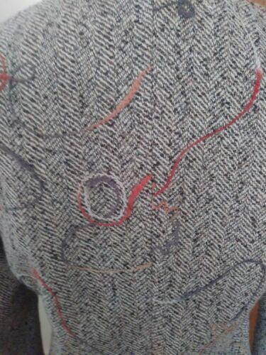 Fab 6 taglia taifun Tuta in misto marrone motivo Cond retro spina a lana pesce di Gonna con wIx6qpIZO