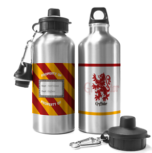 aef717f5966 Image is loading Personalised-Harry-Potter-GRYFFINDOR-Aluminium-Water -Drinks-Travel-