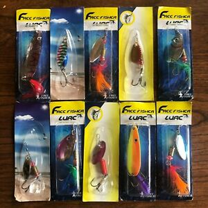 Inline Spinner Baits and Spoons Lot of 10 Assorted