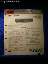 Sony Service Manual TC FX150 Cassette Deck (#1835)