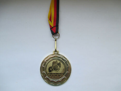 Pokale & Preise Reiten Pokal Kids 20 x Medaillen Deutschland-Bändern Turnier Emblem Reitsport
