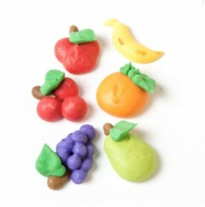 Box Of 240 Edible Fruit Sugar Cupcake Toppers Cakes Icing Cake Apple Grapes Pear
