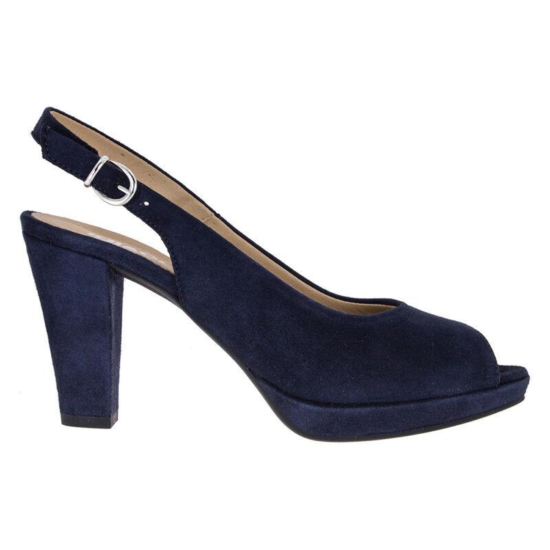 IGI & CO. Art. 57573 Sandalias de mujer de de de tacón alto y la meseta de ante azul  hermoso