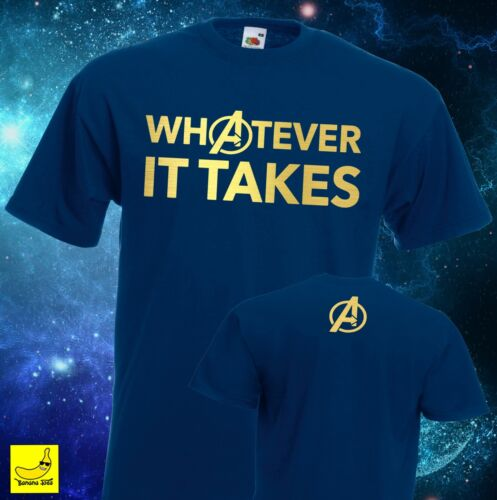 MARVEL Avengers qualsiasi cosa pur T-SHIRT FINALE DI CAPITAN AMERICA SUPEREROE Tee