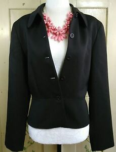 J-Crew-Womens-Size-8-Wool-Single-Breasted-5-Button-Brown-Blazer-Suit-Jacket