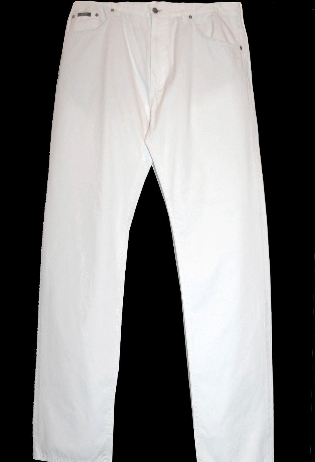 Hugo Boss Authentic White Cotton Men's Casual Pants Sz US W 38 L 32 NEW