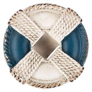 BLUE AND WHITE BUOY DRAWER KNOB - NAUTICAL DECOR CABINET ...