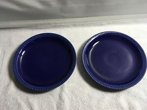 2-Cerind-Portugal-Cobalt-Blue-8-5-034-Embossed-Pie-Crust-Edge-Salad-Plates