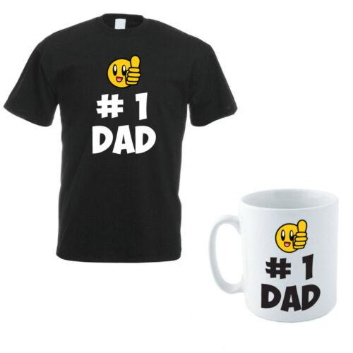 DADDY // Drôle Hommes T-Shirt et tasse ensemble HASHTAG numéro un papa-le Père Cadeau