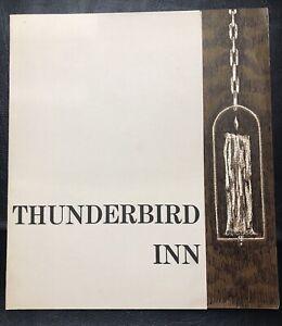 Vintage Thunderbird Inn Luncheon Menu 1960's Plymouth Michigan