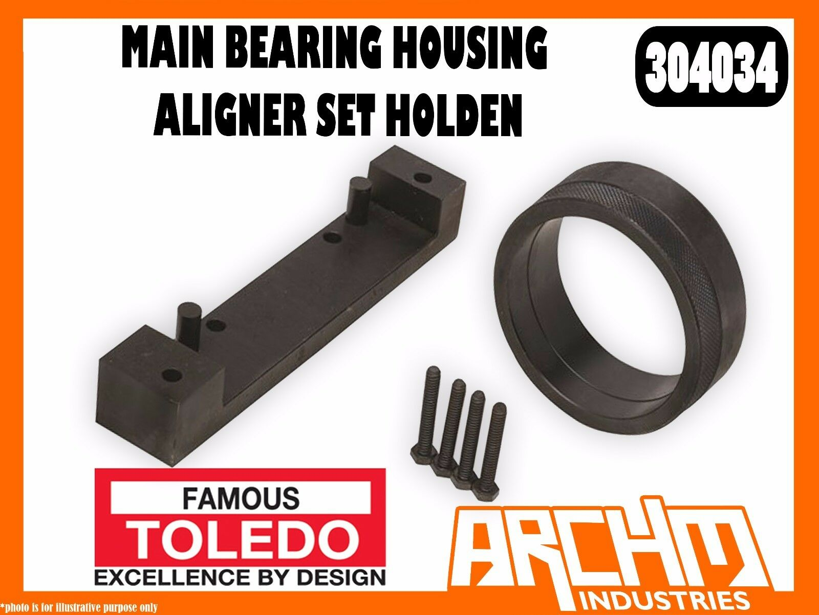 TOLEDO 304034 - MAIN BEARING HOUSING ALIGNER SET HOLDEN - BEARING OIL SEALS