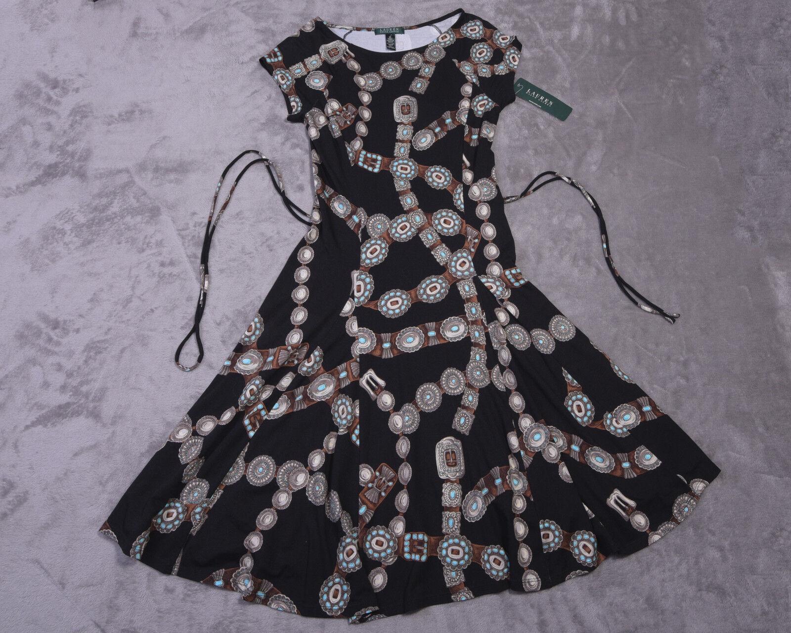 LAUREN RALPH LAUREN Womens DRESS Size Medium Medium Medium Tie Belt M NWT NEW 4efd48