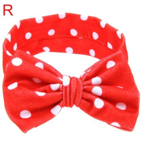 Bow Flowers Print Newborn Hair Band Turban Knot Headband For Infant//Baby