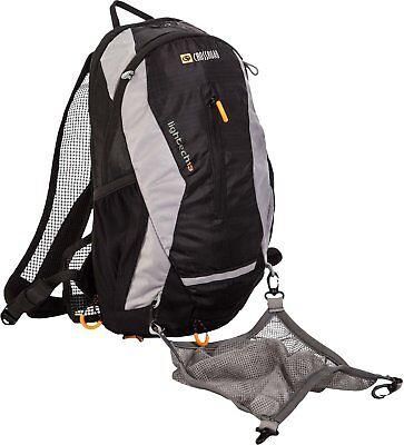 Crossroad Fahrradrucksack Lightech Skirucksack mit Helmnetz 13 L schwarz