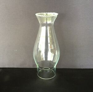 Glass-Oil-Lamp-Crimp-Top-Chimney-034-E-034-54mm-Base-Opening-175mm-tall