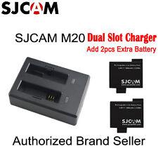 Original SJCAM M20 Dual Battery Charger And 2 Piece 900mAh Li-ion Battery
