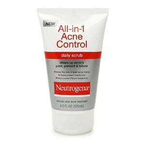 Neutrogena All-In-1 Acne Control Daily Scrub - 4.2 Oz, 3 Pack Essences Regeneration Night Cream 50ml