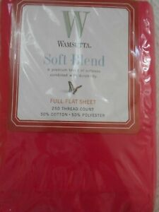 NWT-Wamsutta-Soft-Blend-full-flat-sheet-fuschia