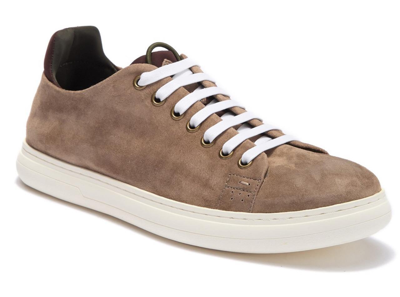 New in Box -  225 Donald Pliner Pierce Tan Suede Lace Sneaker Men's Size 10