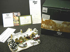 Lilliput Lane The Old Forge At Belton Illuminated Snow Cottage NIB & Deeds L2922