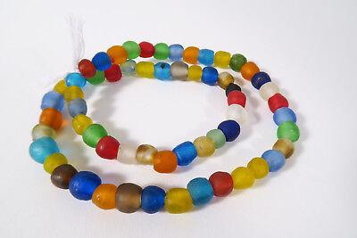Krobo Strang Altglasperlen Pulverglasper Handel Perlen Afrika Ghana Trade Beads