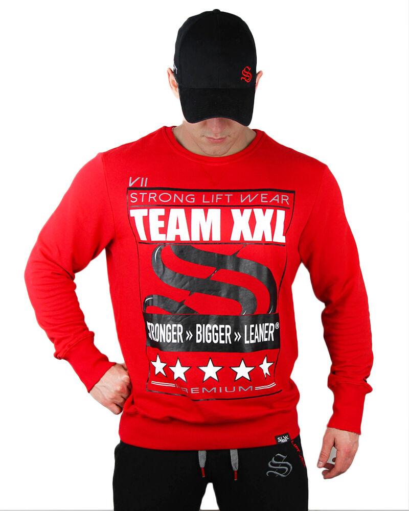Strong Liftwear TEAM Sweater Mens Jumper Gym Hoodie Training Sweater Top